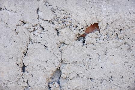 cement wall texture cracked grunge grey color Banco de Imagens