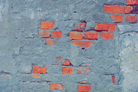 old red brick wall texture background. cement grey plaster