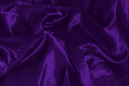 dark purple silk fabric background. cool wavy folds. for wedding cards clothes bed linen Stok Fotoğraf