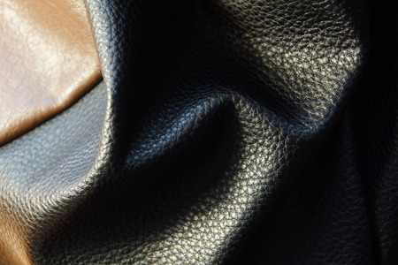 leather bags jacket texture background close-up black