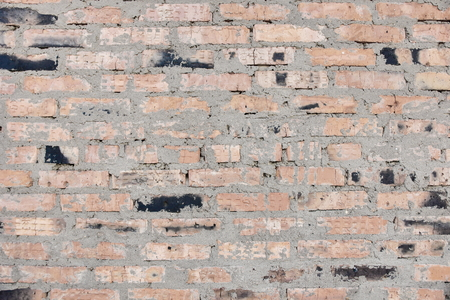 surface of an old red brick wall grunge background texture close up Foto de archivo - 111491779