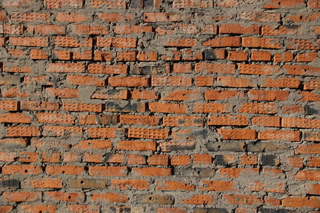 surface of an old red brick wall grunge background texture close up Foto de archivo - 111482652