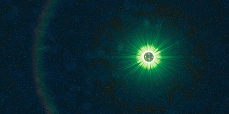 space stars unknown alien planet green star journey among the stars