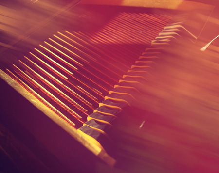 strings and hammers of the piano. spring melody. Classical music. Music concert background.
