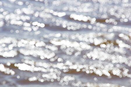 glitter river water texture background closeup Stock Photo
