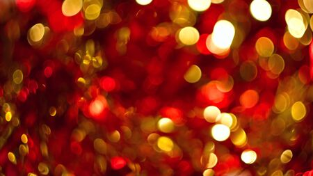 abstract background natural festive red gold bokeh sequins tinsel