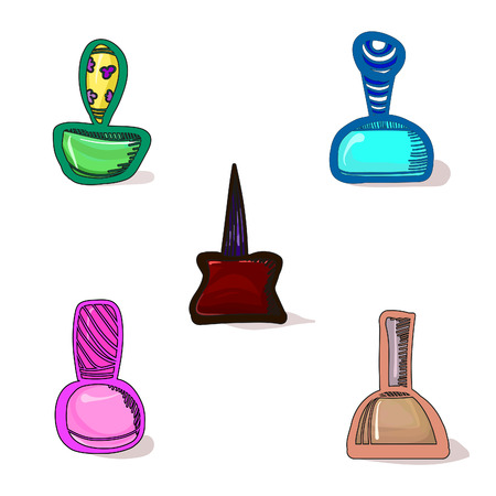 stuff: set of five icons women stuff