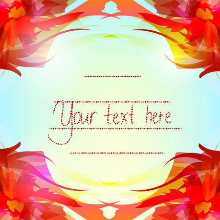 mirrored: background with a bright red mirrored flower Can be used as a greeting card or invitation