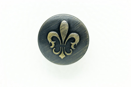 Round Metal Jeans Button in vintage style