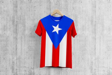 on sale 0440e 7d195 Puerto Rico flag T-shirt on hanger, team uniform design idea..