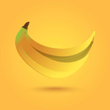 yellowrn: realistic vector illustration of banana Illustration