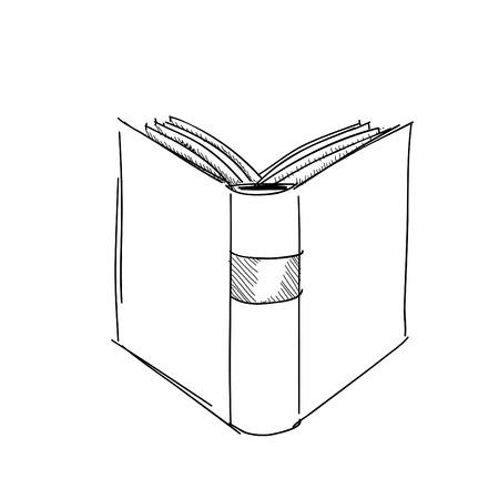 Vector schets tekening boekillustratie Stockfoto - 38640066