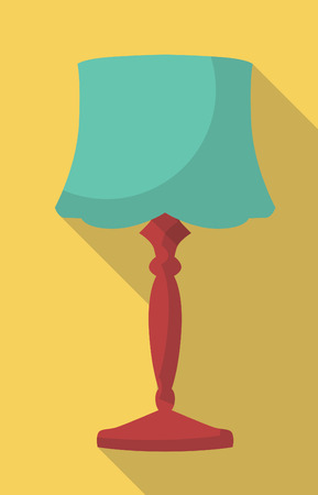 vector flat icon of vintage table lamp