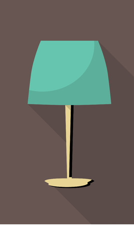 lustre: vector flat icon of vintage table lamp
