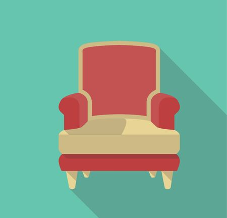 single seat: vector flat design icon of a single seat Illustration