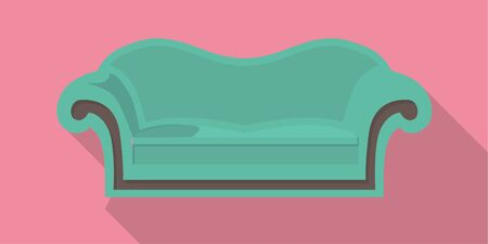 flattery: vector flat design icon of a couch
