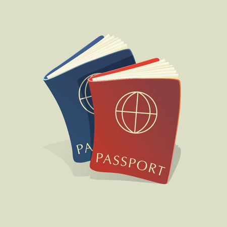 credential: illustration two passports Illustration