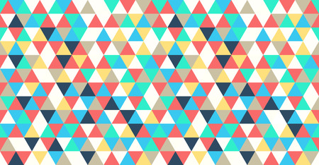 vector seamless geometric abstract triangle pattern background Ilustração