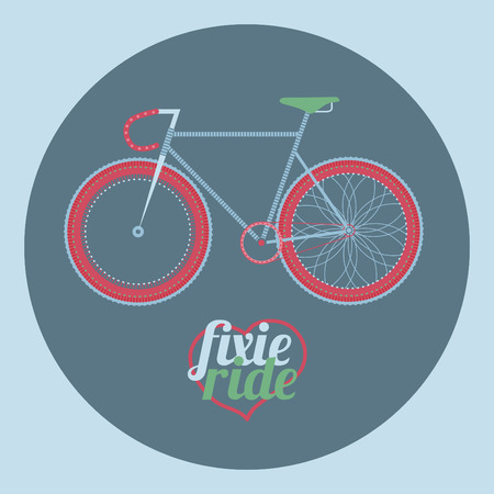 fixed: ilustraci�n bicicleta fija del engranaje