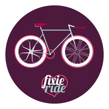 clavados: ilustraci�n bicicleta fija del engranaje