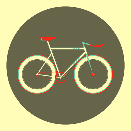 repetitious: illustration fixed gear bicycle