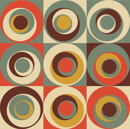 70 s: Vector Colorful abstract retro seamless geometric pattern