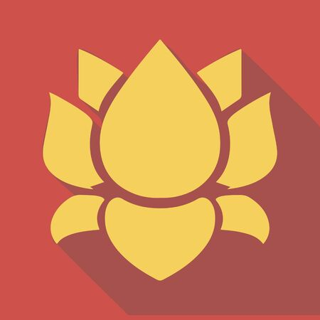 esp cards: flat design Lotus flower icon vector application