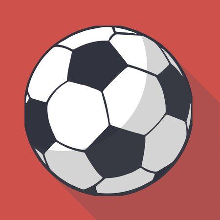 foot ball: Vector illustration long shadow flat icon of foot ball