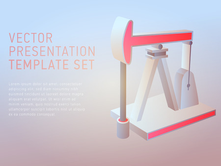 background cover: vector 3d business theme presentation template set Illustration