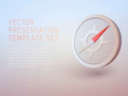 achieve: vector 3d business theme presentation template set Illustration