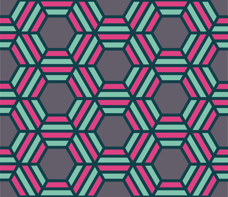 60 70: vector colorful abstract contemporary seamless geometric pattern
