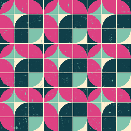 70s: Vector Colorful abstract retro seamless geometric pattern