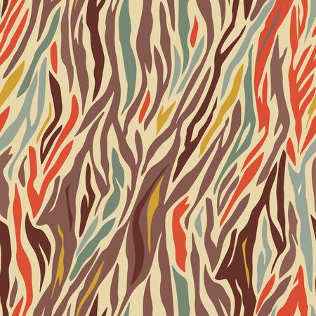 colored vector geometric seamless zebra pattern design Illustration