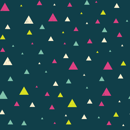 retro pattern: Vector Colorful abstract retro seamless geometric pattern