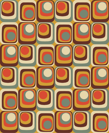 60 70: Vector Colorful abstract retro seamless geometric pattern