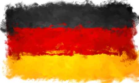 germany flag: oil painting grunge effected illustration of GERMANY flag