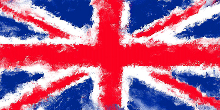 british culture: oil painting grunge effected illustration of united kingdom flag