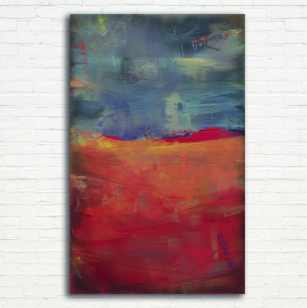oil painting abstract style landscape artwork on canvas