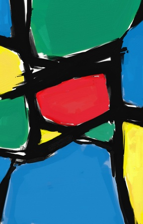 stroked: oil painting abstract style artwork on canvas