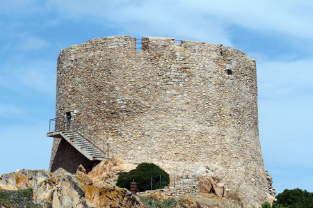 Santa Teresa di Gallura, Sardinia, Italy - Longosardo tower or Spanish tower - building in the 16th century. Reklamní fotografie