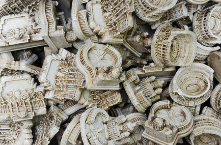 Souvenirs with famous landmarks in Rome, Italy