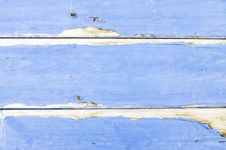 Weathered blue wooden wall - Blue painted background and alternative construction material - Wooden  textured panel in outer fence structure - Retro old fashioned backdrop pattern - graphic content Foto de archivo