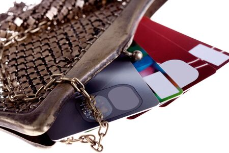 antiquarian purse with credit cards Visa and Mastercard photo