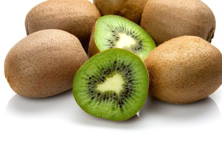 Kiwi fruit isolated on a white background photo