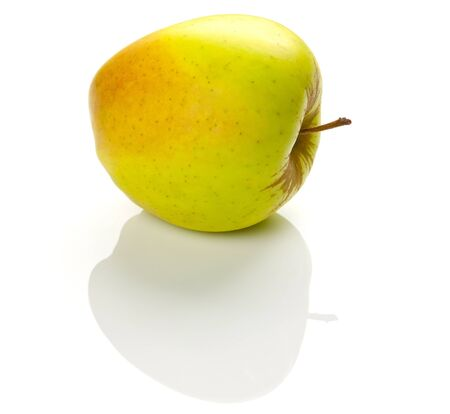 the big apple on a white background with shadow Stock Photo