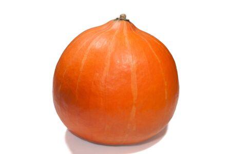 Ripe orange pumpkin isolated on white Stock Photo