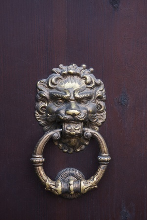 Ancient door knocker  Castle in Dubno  Ukraine photo