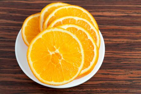 orange ring on the plate Stock Photo - 17896094