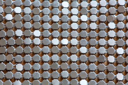 Background of metal diamond plate in silver color Stock Photo - 18235017