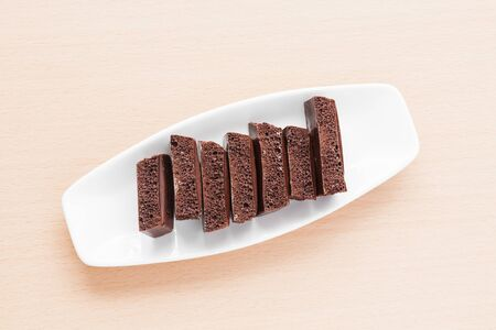 porous chocolate on a plate Stock Photo - 18846506